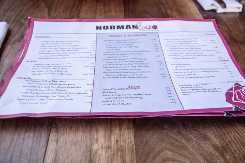Norman Rose menu (1 of 1)