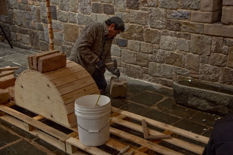 Cutting Stone at Castello di Amorosa