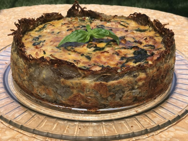 Recipe of the week – Canadian Bacon and Spinach Quiche – April