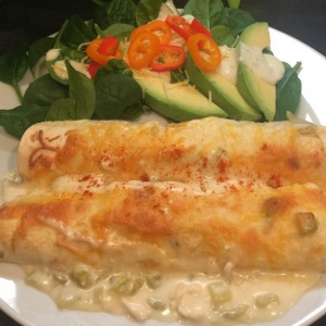Green Chile Enchiladas in a flash!